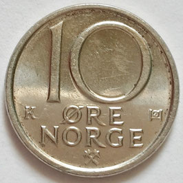 Norway 10 Öre 1974-1991 KM#416
