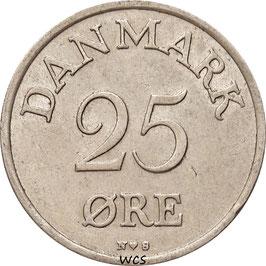 Denmark 25 Öre 1948-1955 KM#842.1