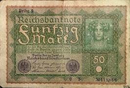 Germany 50 Mark 24.06.1919 Ro 62d Printer Reihe, 3 Series b