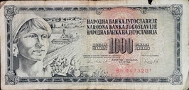 Yugoslavia 1000 Dinara 04.11.1981 P.92d