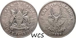Uganda 50 Shillings 1998 KM#66 F