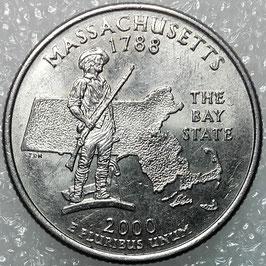 Washington 50 States Quarters (25 Cents) - Massachusetts 2000 KM#305