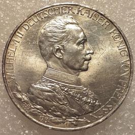 Prussia 3 Mark 1913 A - 200th Anniversary of the Kingdom of Prussia KM#535 XF+