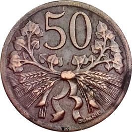 Czechoslovakia 50 Haleru 1947-1950 KM#21