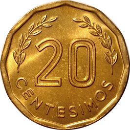 Uruguay 20 Centesimos 1981 KM#67