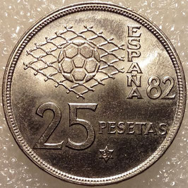 Spain 25 Pesetas 1980 FIFA World Cup 1982 KM#818
