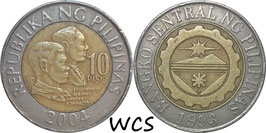 Philippines 10 Piso 2000-2017 KM#278