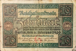 Germany 10 Mark 06.02.1920 Ro 63a Underprint/Series G/U