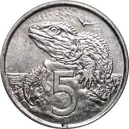 New Zealand 5 Cents 2002 KM#116 UNC-
