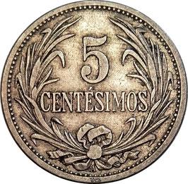Uruguay 5 Centesimos 1909 A KM#21