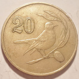 Cyprus 20 Cents 1983-1988 KM#57