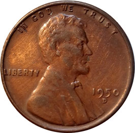 USA 1 Cent (Lincoln Wheat Cent) 1944-1958 KM#A132