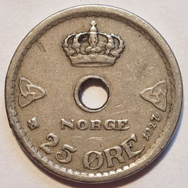 Norway 25 Øre 1924-1950 KM#384
