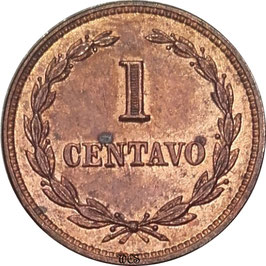 El Salvador 1 Centavo 1942-1972 KM#135.1