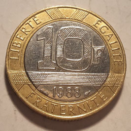France 10 Francs 1988-2001 KM#964