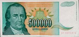 Yugoslavia 500.000 Dinara 1993 P.131