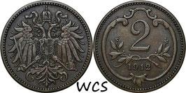 Austria 2 Heller 1892-1915 KM#2801