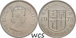 Mauritius 1 Rupee 1978 KM#35.1 UNC-