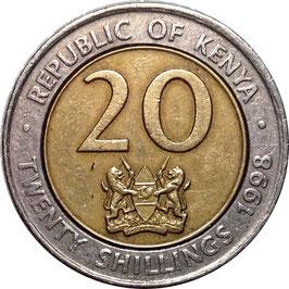 Kenya 20 Shillings 1998 KM#32 VF