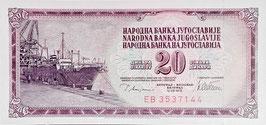 Yugoslavia 20 Dinara 12.08.1978 P.88a UNC