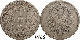German Empire 1 Mark 1875 A KM#7 F (1)