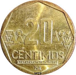 Peru 20 Centimos 2001-2018 KM#306.4