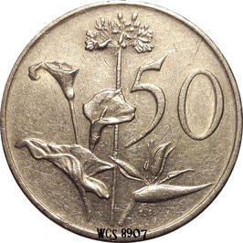 South Africa 50 Cents 1970-1990 KM#87