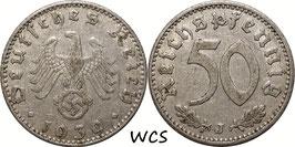 Germany - Third Reich 50 Reichspfennig 1939 J KM#96 VF-