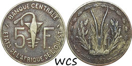 West African States 5 Francs 1978 KM#2a VF-