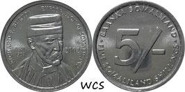 Somaliland 5 Shillings 2002 Richard F. Burton KM#4 UNC
