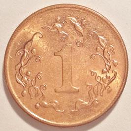 Zimbabwe 1 Cent 1989-1999 KM#1a
