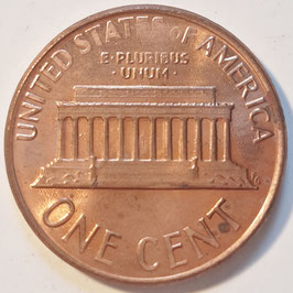 USA 1 Cent (Lincoln Memorial Cent) 1983-2008 KM#201b