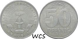 GDR 50 Pfennig 1983 KM#12.2 VF