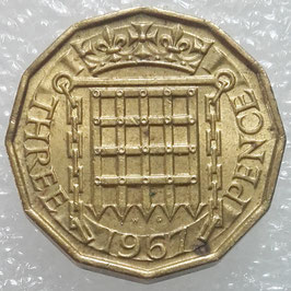 Great Britain 3 Pence 1954-1970 KM#900