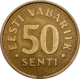 Estonia 50 Senti 1992-2007 KM#24