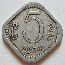 India 5 Paise 1972-1984 KM#18.6