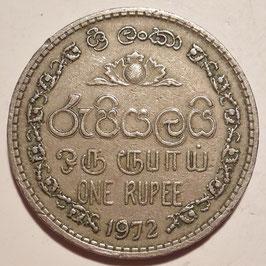 Sri Lanka 1 Rupee 1972-1978 KM#136.1