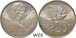 Cook Islands 20 Cents 1973 KM#5 UNC