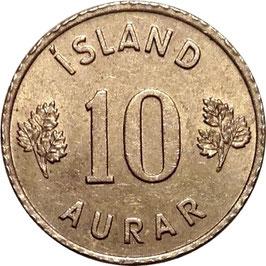 Iceland 10 Aurar 1946-1969 KM#10