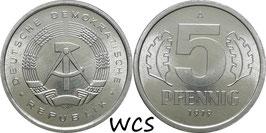 GDR 5 Pfennig 1979 A KM#9.2 Prooflike