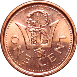 Barbados 1 Cent 2008-2012 KM#10b