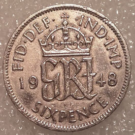 Great Britain 6 Pence 1947-1948 KM#862