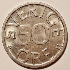 Sweden 50 Öre 1976-1991 KM#855