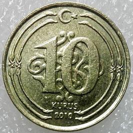 Turkey 10 Kurus 2009-2018 KM#1241
