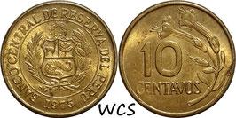 Peru 10 Centavos 1966-1975 KM#245