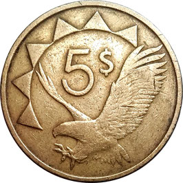 Namibia 5 Dollars 1993-2015 KM#5