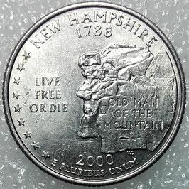 Washington 50 States Quarters (25 Cents) - New Hampshire 2000 KM#308