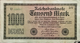 Germany 1000 Mark 15.09.1922 Ro 75f Printer: DV