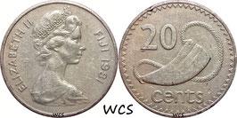 Fiji 20 Cents 1981 KM#31 VF