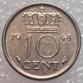 Netherlands 10 Cents 1948 KM#177